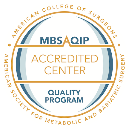 MBSAQIP accredited center badge