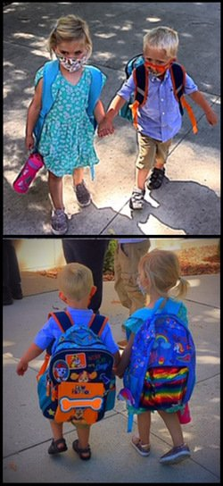 Ashley Recknor's daughter at school with friend