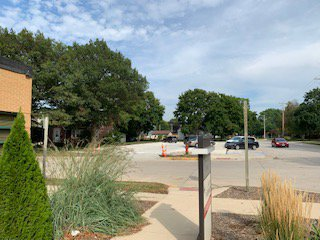 New patient parking lot east of the Belmond Clinic