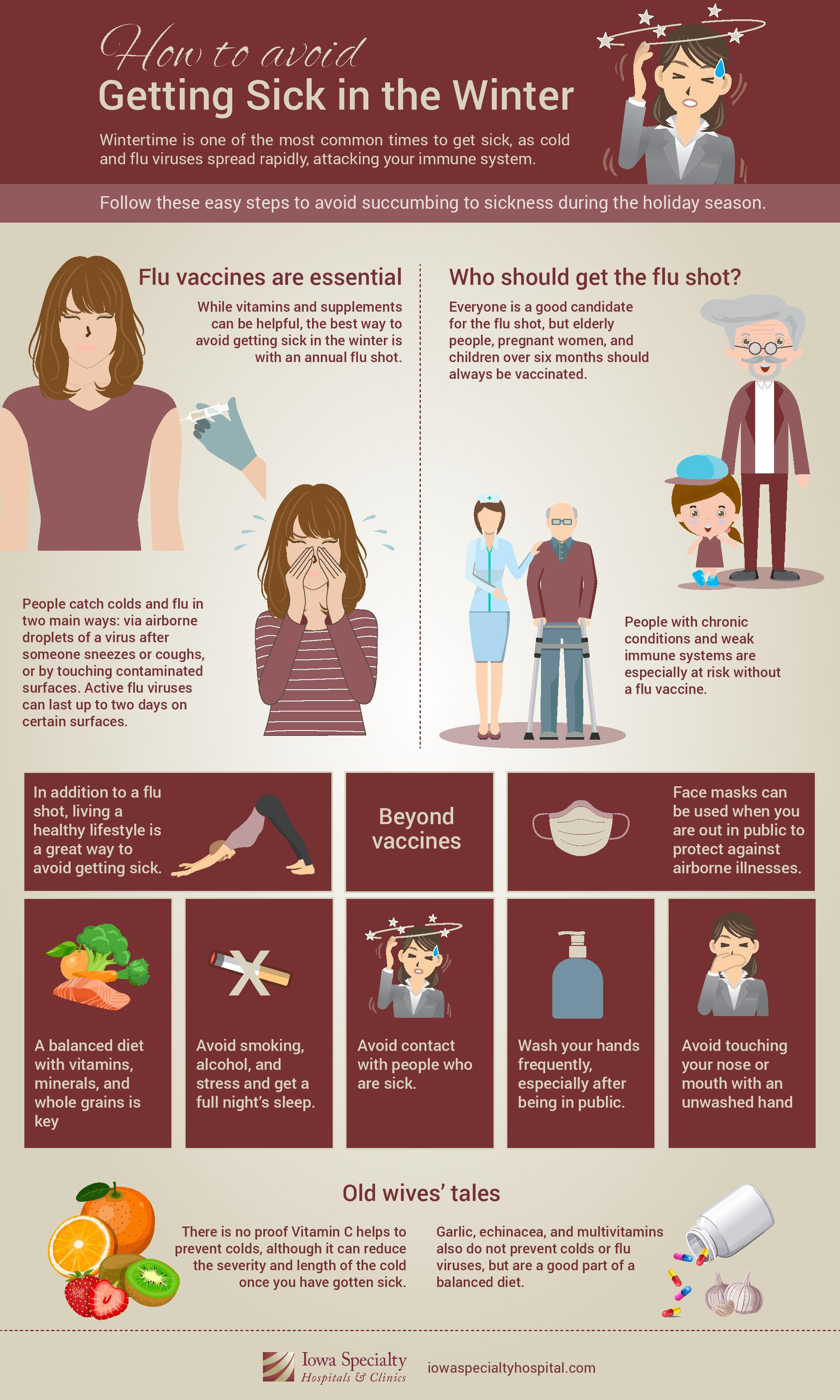 How to Avoid Getting Sick Infographic
