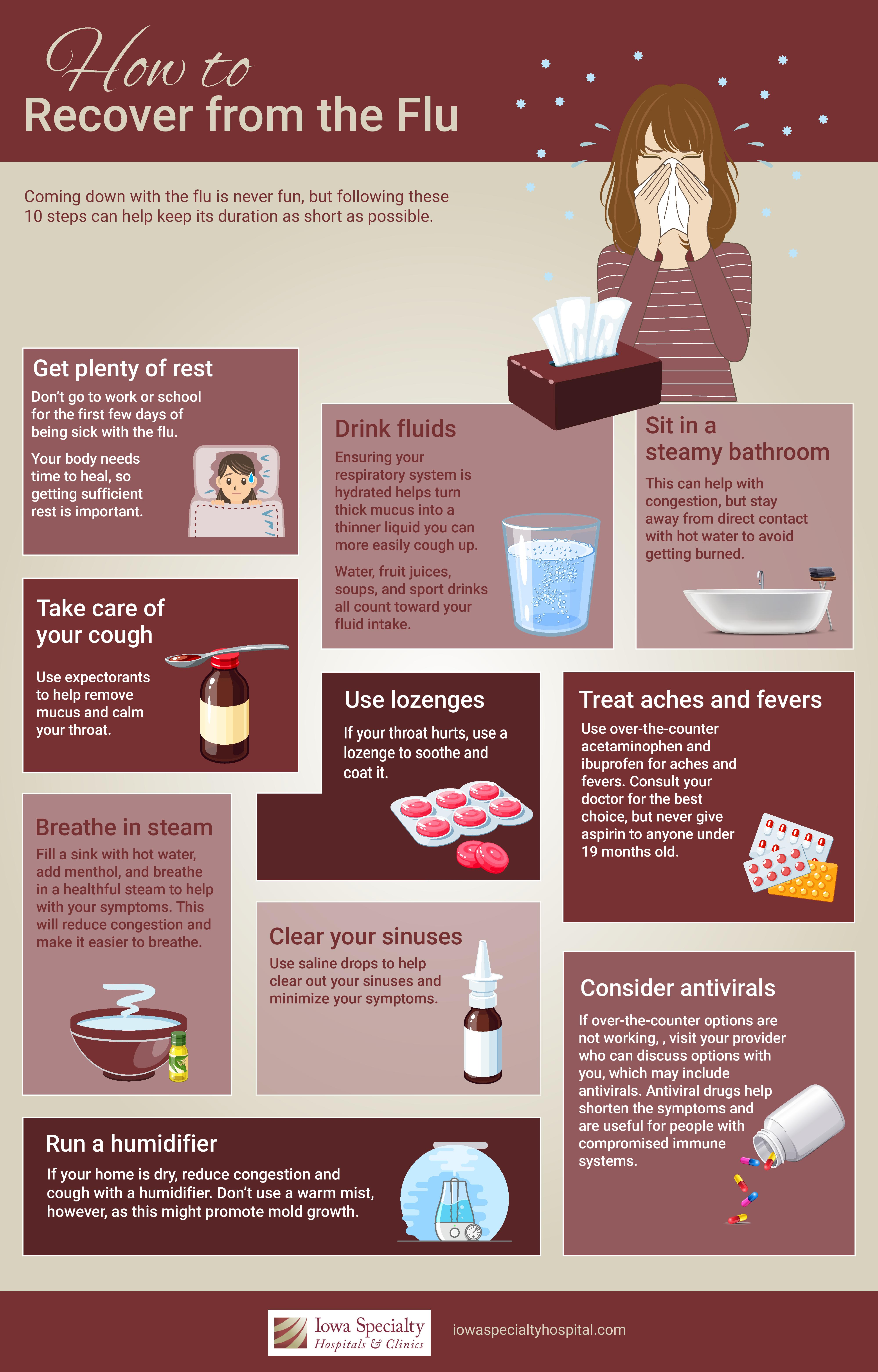 How to Recover From the Flu infographic